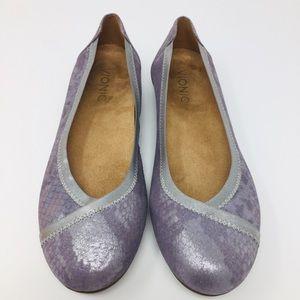 Vionic Caroll Pewter Ballet Flats 6.5 WIDE WIDTH